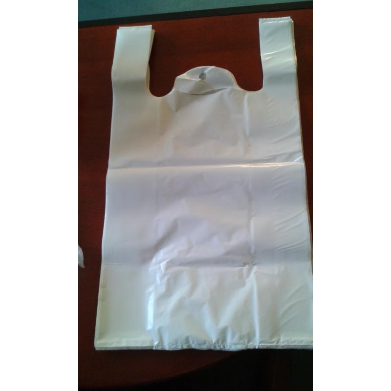 Torebka papierowa fałdowa biała 370x180x60 mm 250 szt.