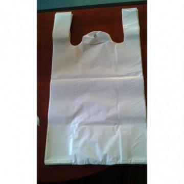 Torebka papierowa fałdowa biała 290x150x90 mm 1000 szt.