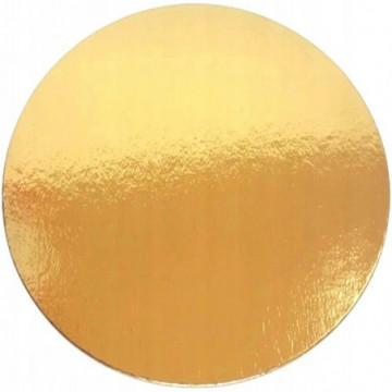 Podkładka prostokątna złota pod tort 40x60 cm karbowana GRUBA