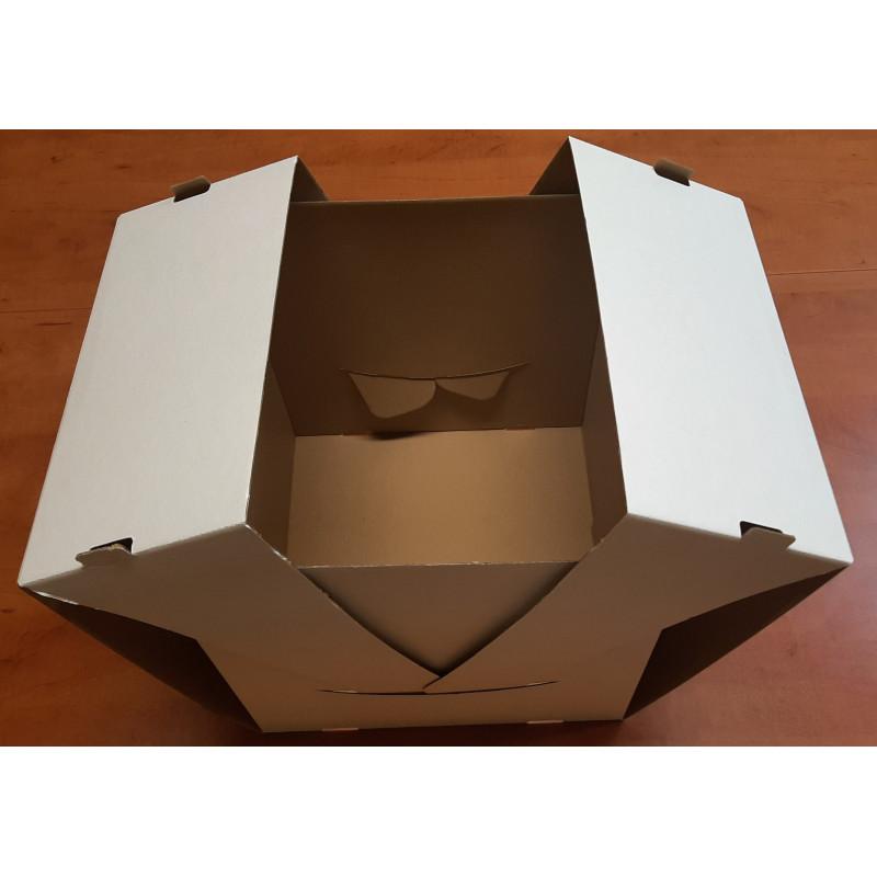 Pudełko kartonowe cukiernicze 210x245x70 mm KROPKI szt.