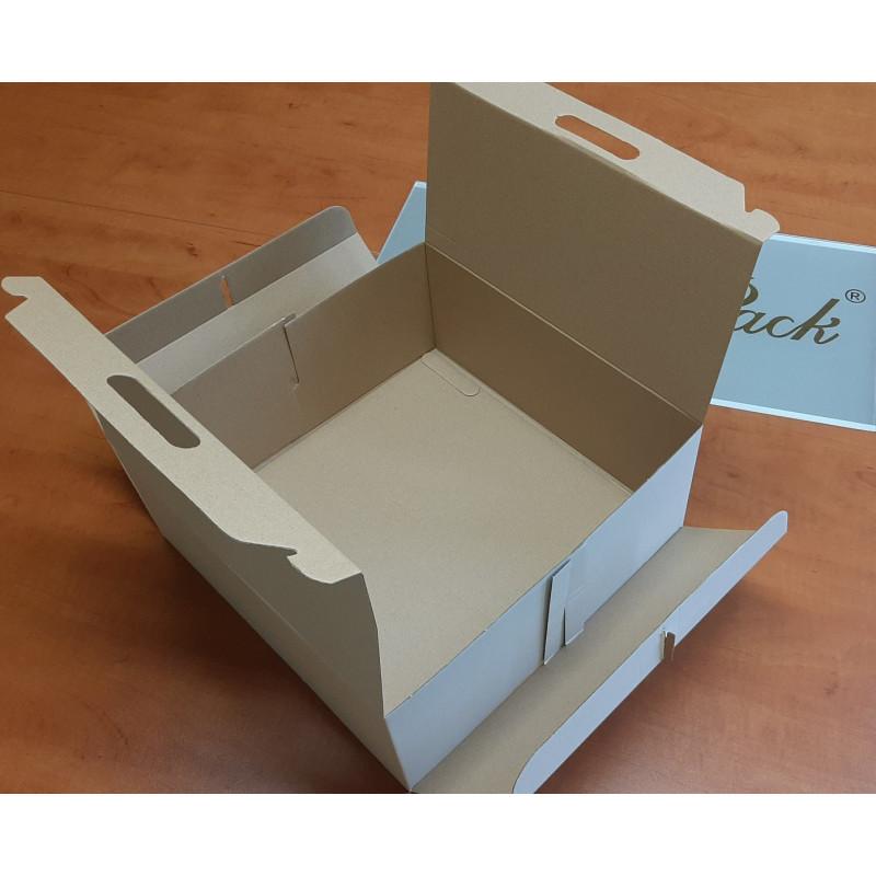 Pudełko kartonowe cukiernicze 210x125x70 mm KROPKI szt.