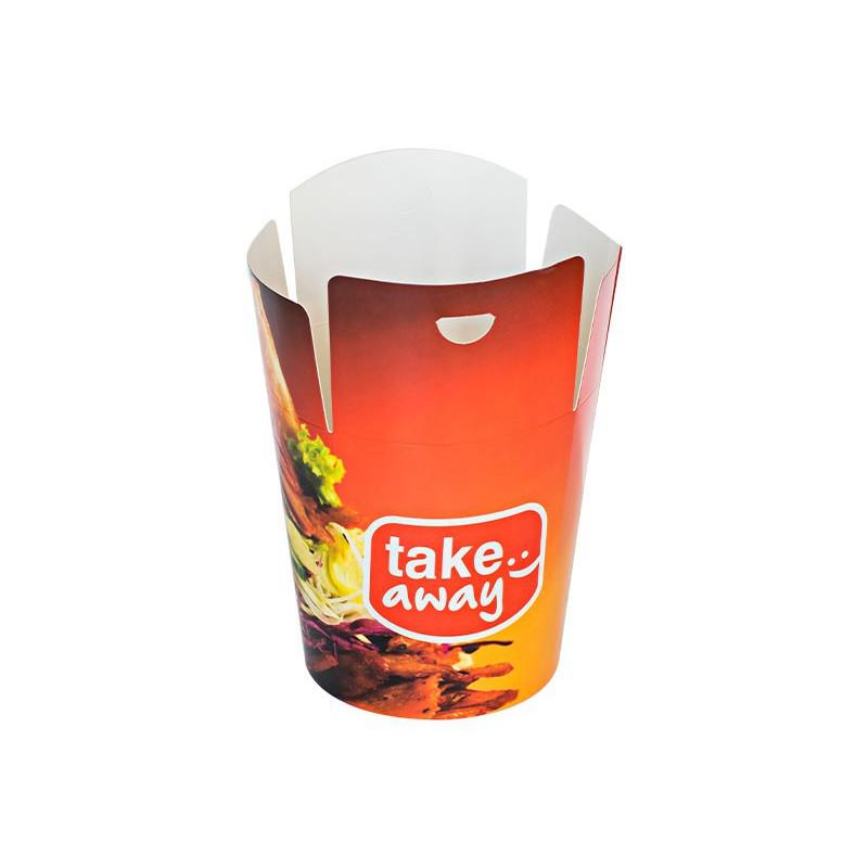 Torba papierowa brązowa 240x150x80 z oknem fałdowa a`1000