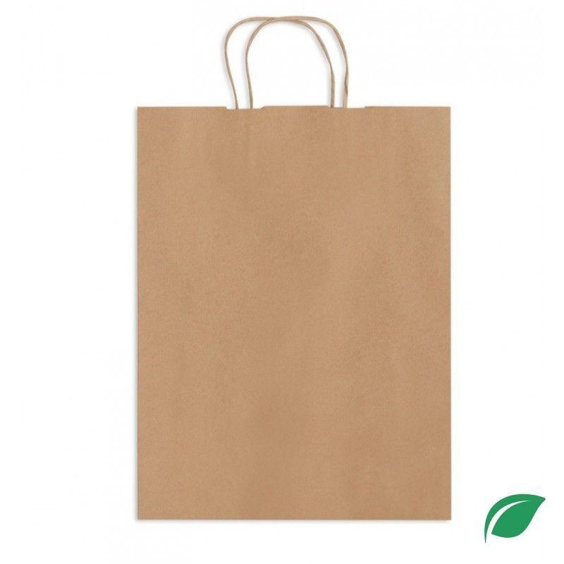 Torebka papierowa 180X85X230 mm biała uchwyt płaski 1 szt